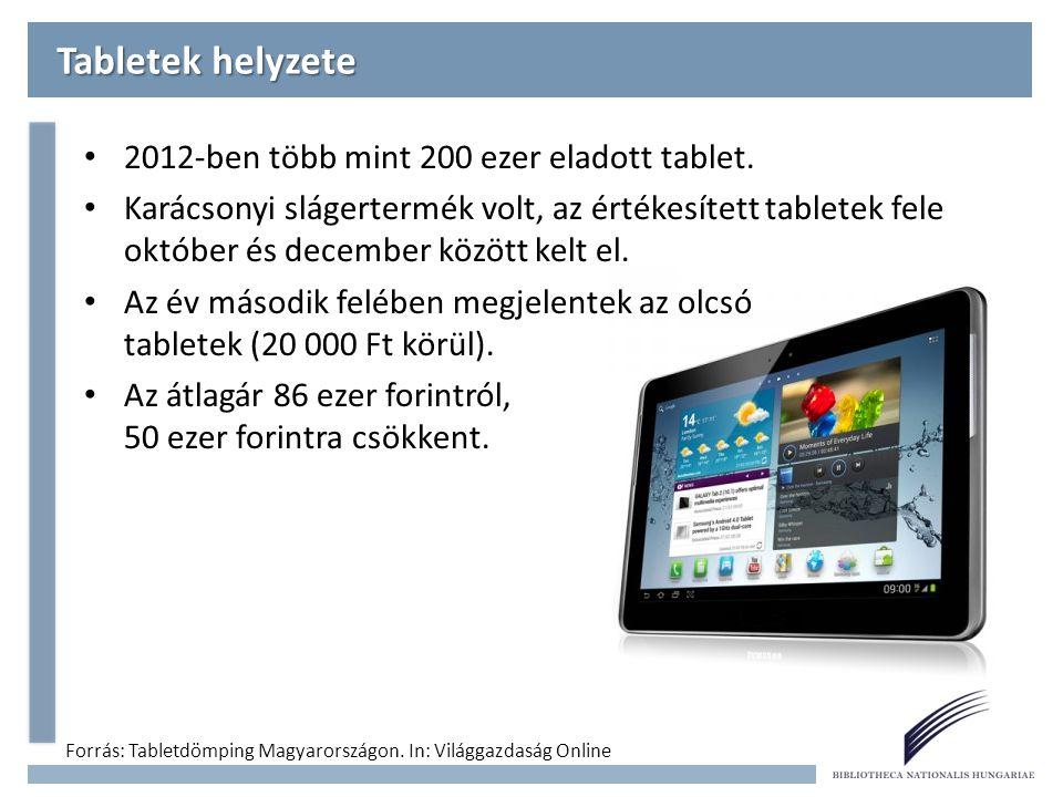 2,59 millió GB adatforgalom Mobilinternet Magyarországon Forrás: Nemzeti Média- és Hírközlési Hatóság: Mobilinternet-gyorsjelentés.