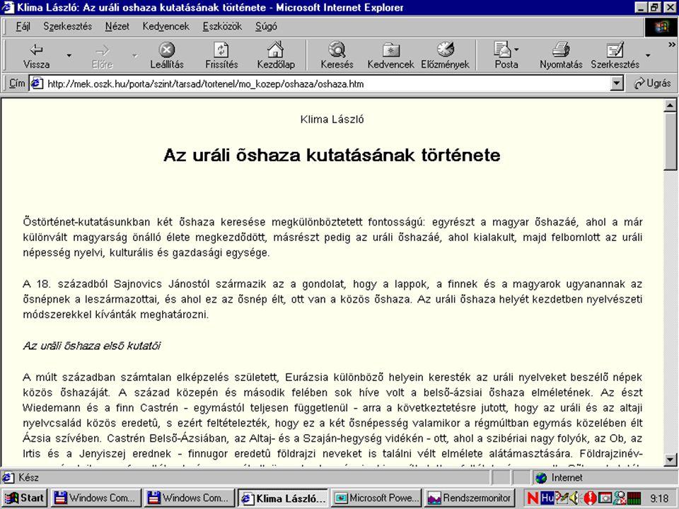 MEK gyarapodás Web-honlapok Kutatóintézetek, tanszékek Kiadók Szerzők Önkéntes rögzítők CD-ROM-ok