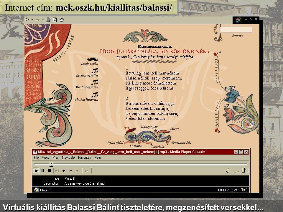 jelesnapok.neumann-haz.hu Internet cím: jelesnapok.neumann-haz.hu Jeles Napok - multimédiás összeállítás az ünnepekről és évfordulókról...