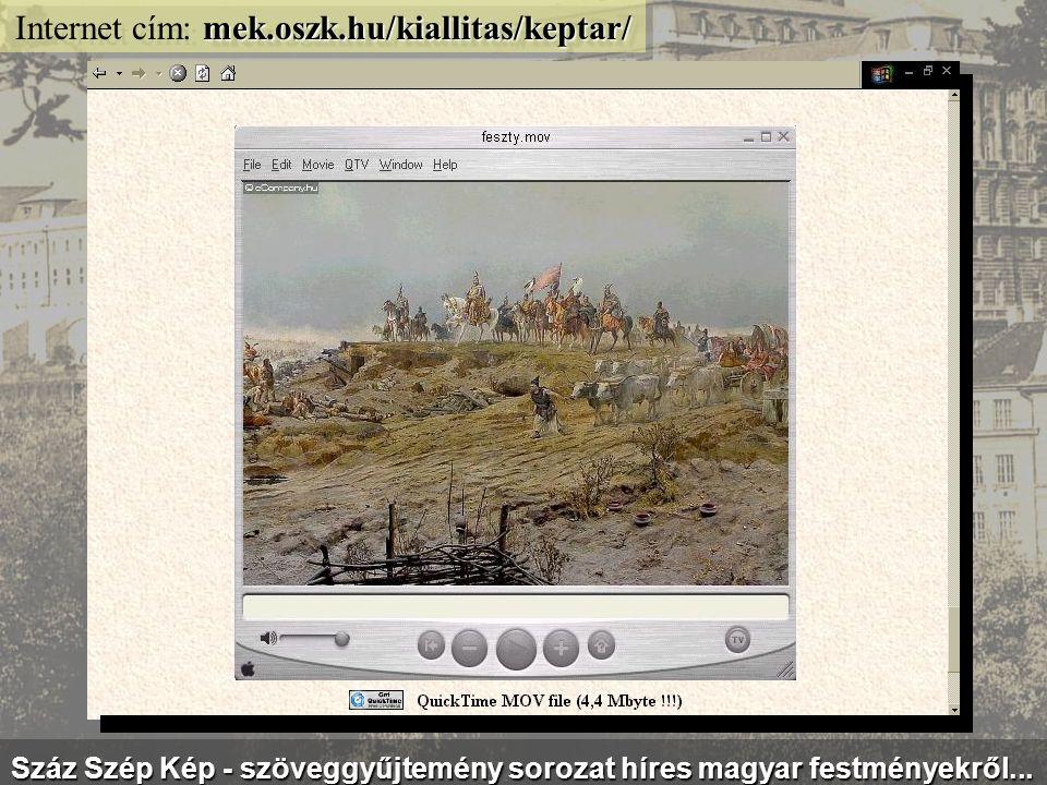 mek.oszk.hu/kiallitas/balassi/ Internet cím: mek.oszk.hu/kiallitas/balassi/ Virtuális kiállítás Balassi Bálint tiszteletére, megzenésített versekkel..