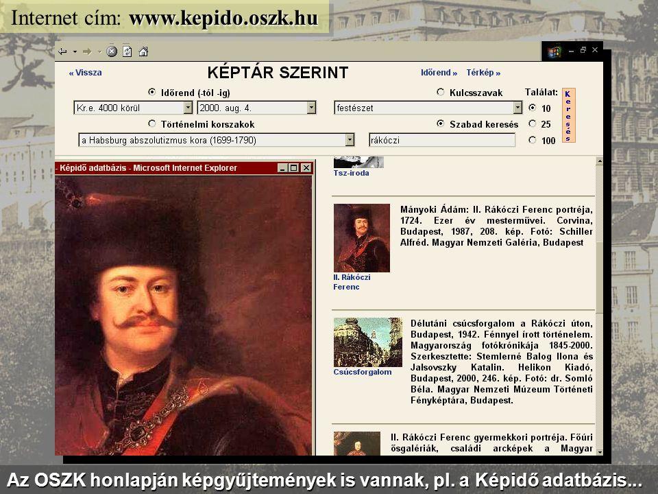 sajtomuzeum.oszk.hu Internet cím: sajtomuzeum.oszk.hu Virtuális kiállítás az EPA és a MEK sajtótörténeti anyagából...