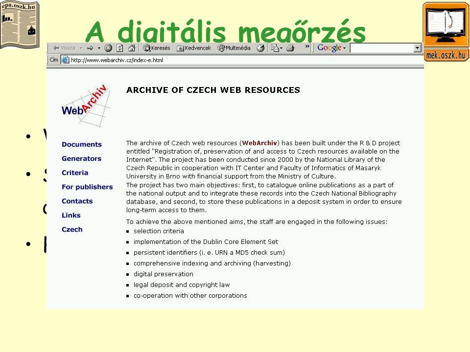 A digitális megőrzés stratégiái I.