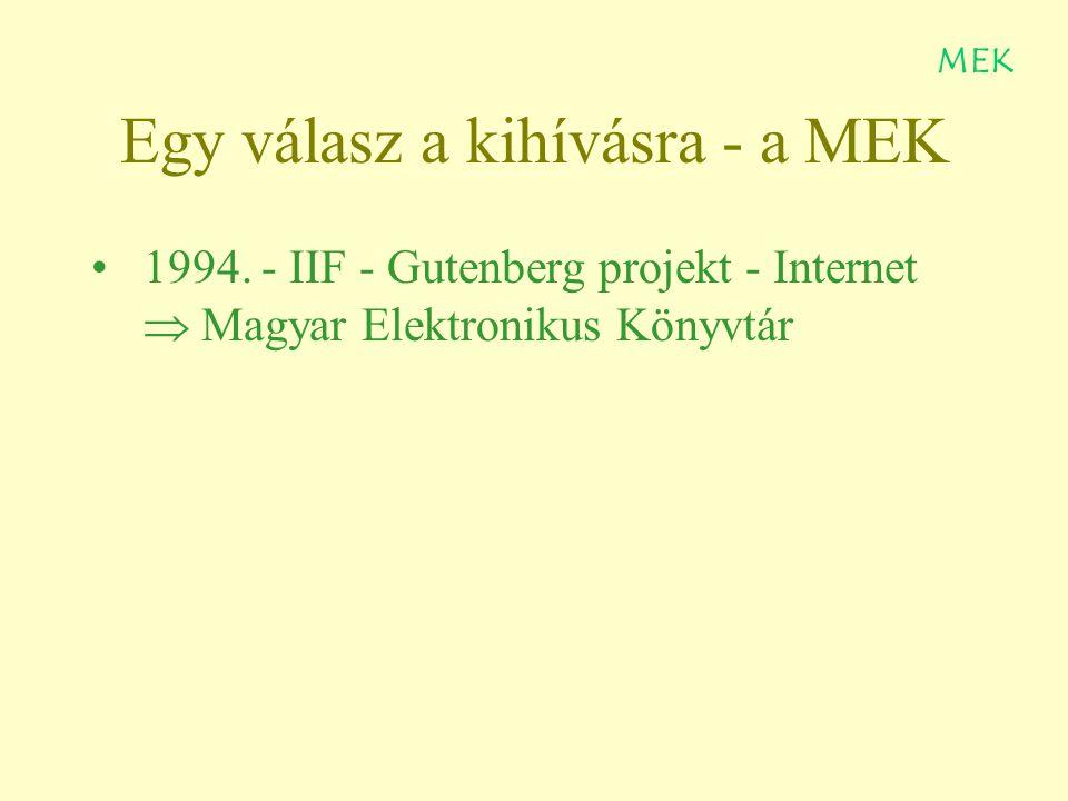 Egy válasz a kihívásra - a MEK 1994.