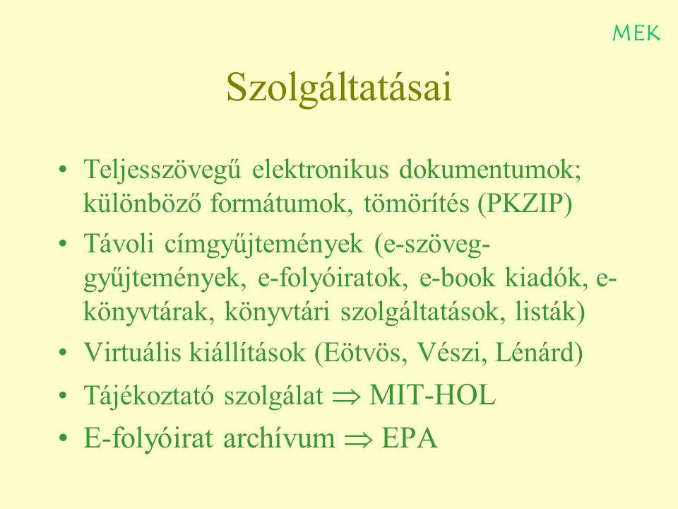 Köszönöm figyelmüket ! Moldován István MEK könyvtáros moldovan@oszk.hu