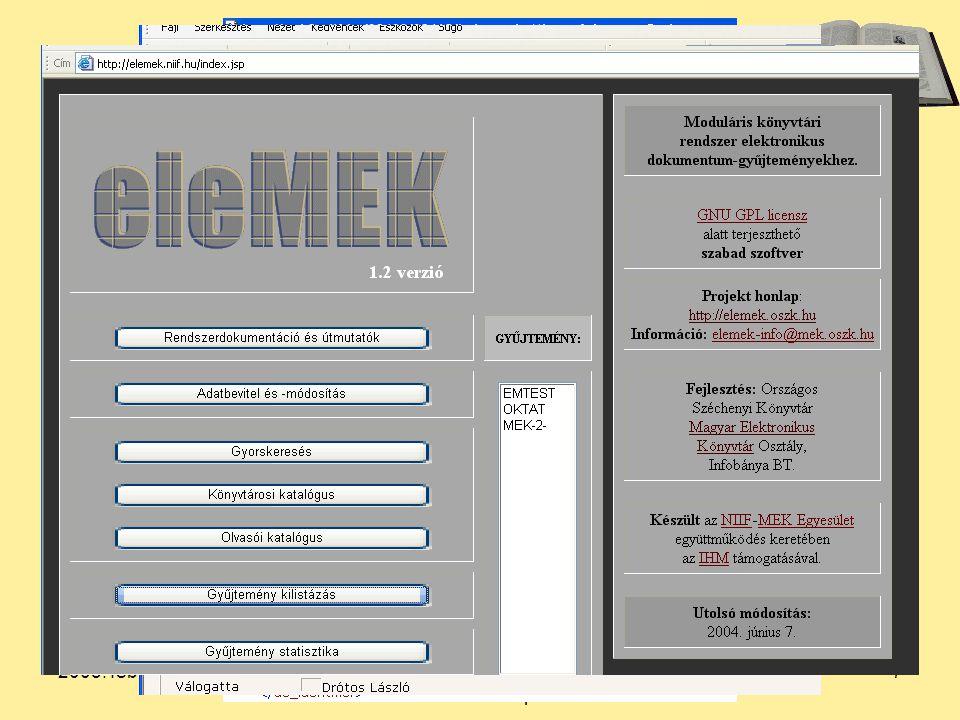 2005. február 7.Békés Megyei Könyvtár. Szakmai nap 7 5.
