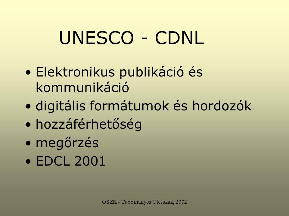OSZK - Tudományos Ülésszak, 2002 NEMZETI KÖNYVTÁR.