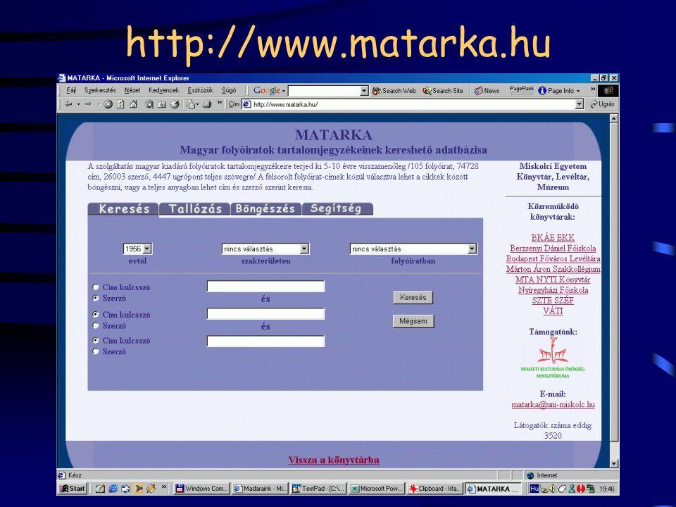 http://www.matarka.hu
