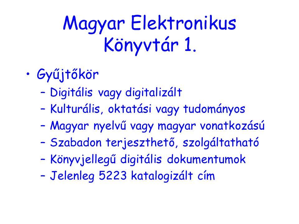 Magyar Elektronikus Könyvtár 1.