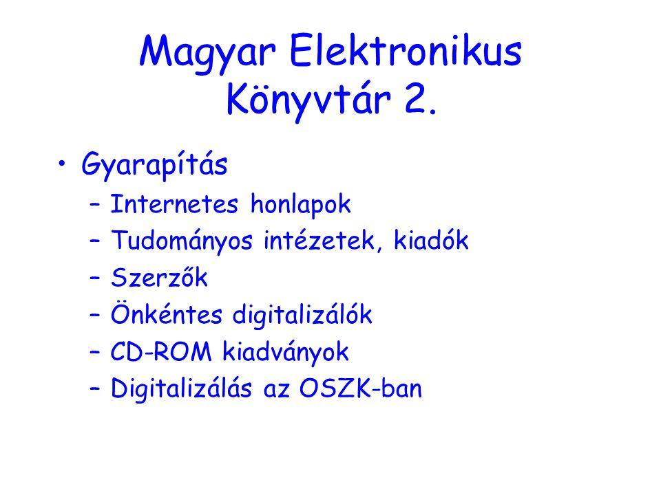 Magyar Elektronikus Könyvtár 2.