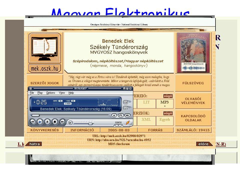 Magyar Elektronikus Könyvtár 3.