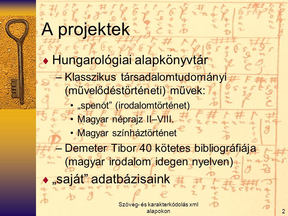 Szöveg- és karakterkódolás xml alapokon13 < ez nem az a kulcs  Kérdések, problémák, konzultációs és bosszankodási/bosszantási lehetőség: kiru@arcanum.hu