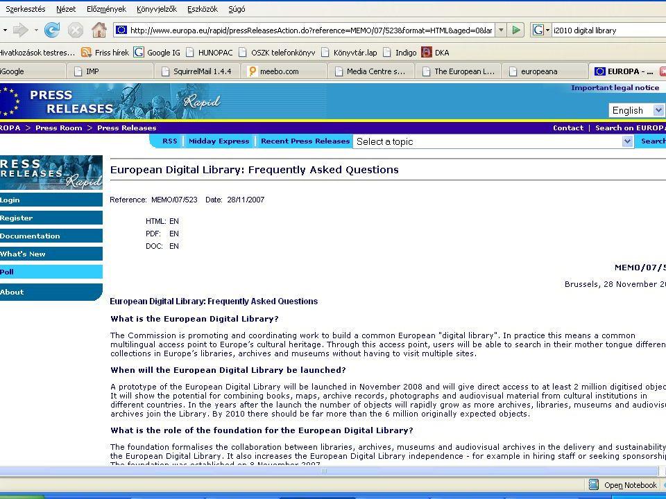 TEL-től az EDL-ig A TEL mint EDL alapja Terv: 2008.