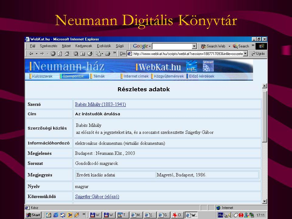 Neumann Digitális Könyvtár