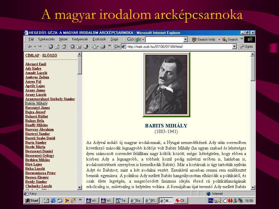 A magyar irodalom arcképcsarnoka