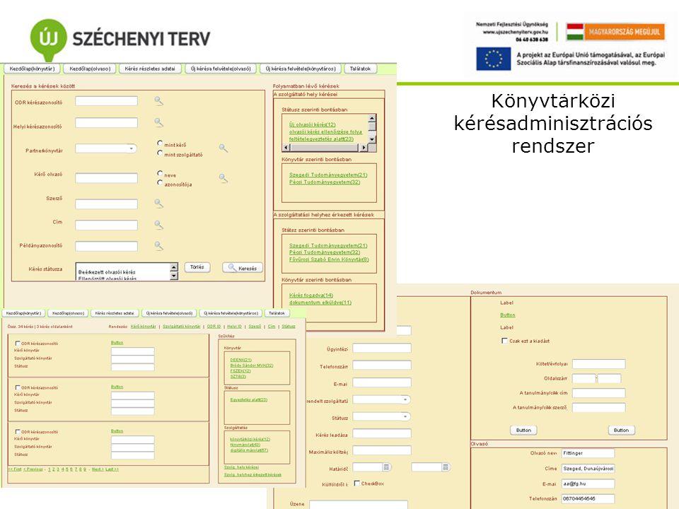 Könyvtárközi kérésadminisztrációs rendszer