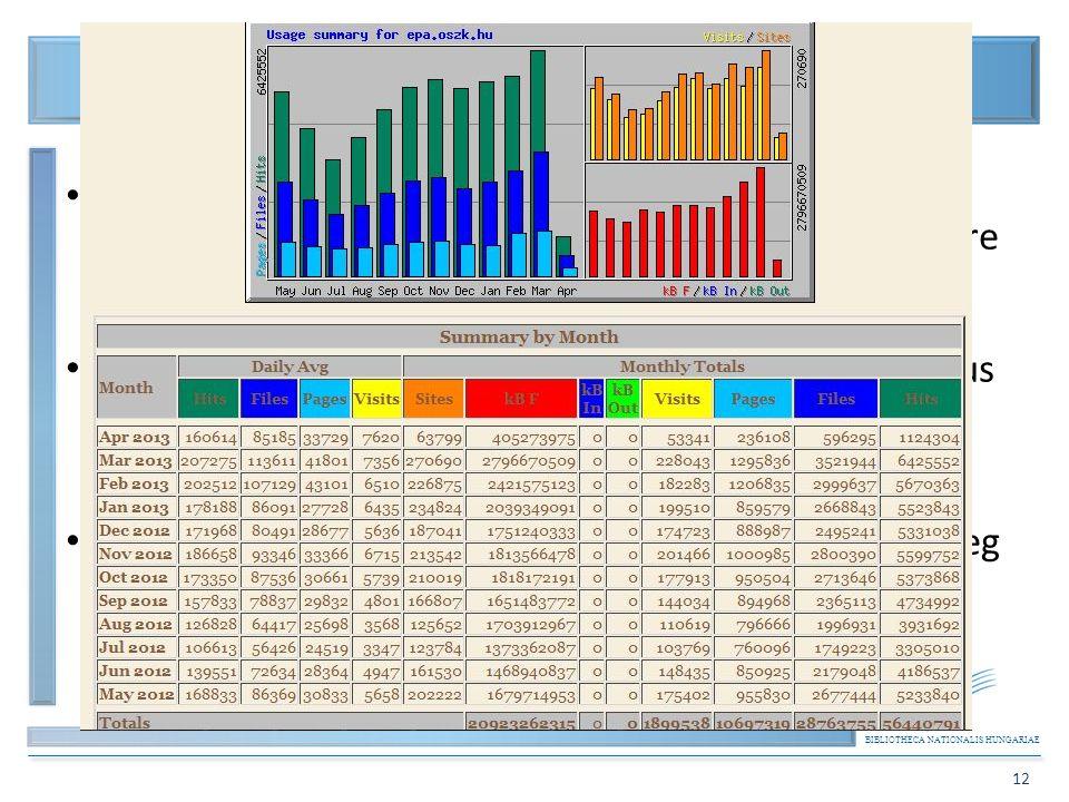 BIBLIOTHECA NATIONALIS HUNGARIAE 12 Elektronikus Periodika Archívum és Adatbázis (EPA) 2. Nyilvántartás; az online, a digitális, a digitalizált, offli