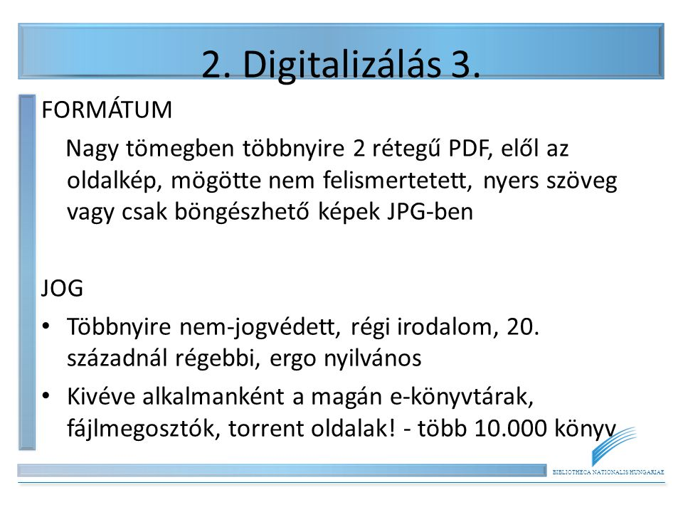 BIBLIOTHECA NATIONALIS HUNGARIAE 5.Könyvtárak - e-könyvek 2.