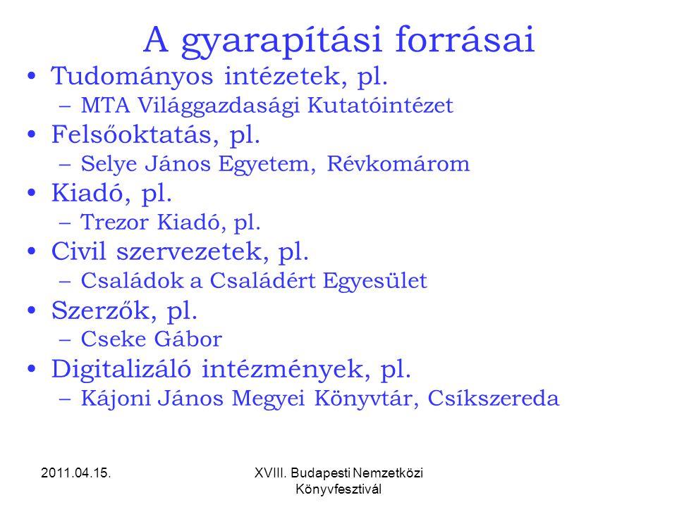 2011.04.15.XVIII.Budapesti Nemzetközi Könyvfesztivál A gyarapítási forrásai 2.