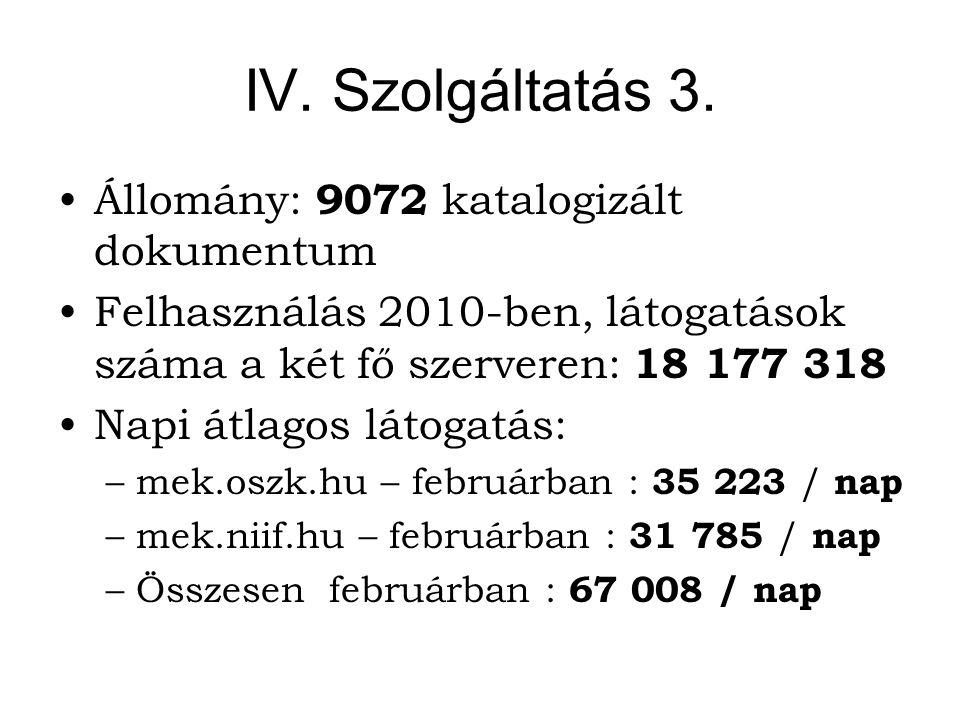 IV. Szolgáltatás 3.