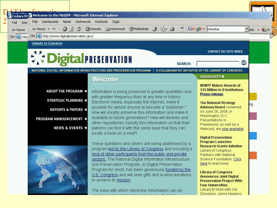 """A """"digitális megőrzés problémája II."""