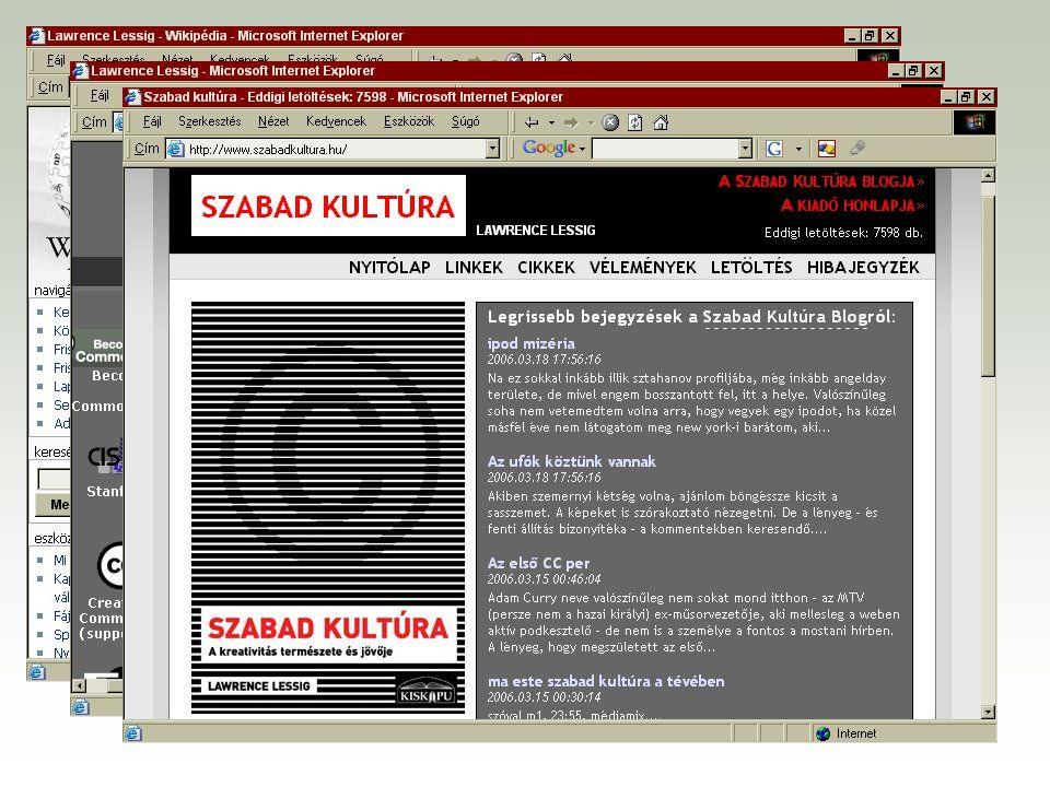 """Az """"eredeti Creative Commons és a külföldi honosítások F http://creativecommons.org F http://creativecommons.org/worldwide"""
