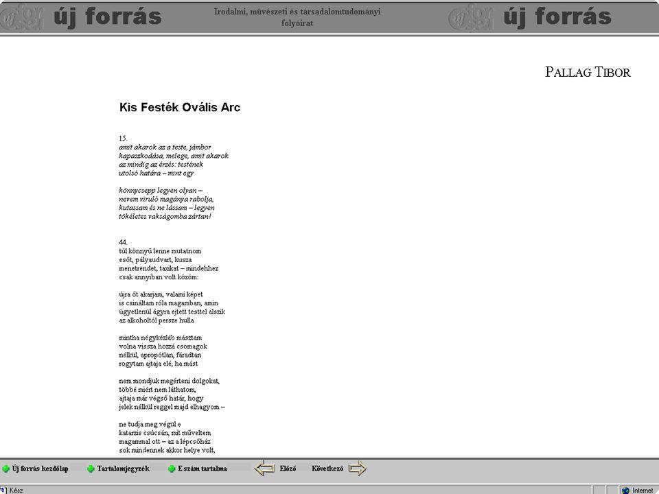 2.az UFO internetes közzététele Minden egyes frameset (pl.: 0408_08.htm), áll egy cikkből (pl.