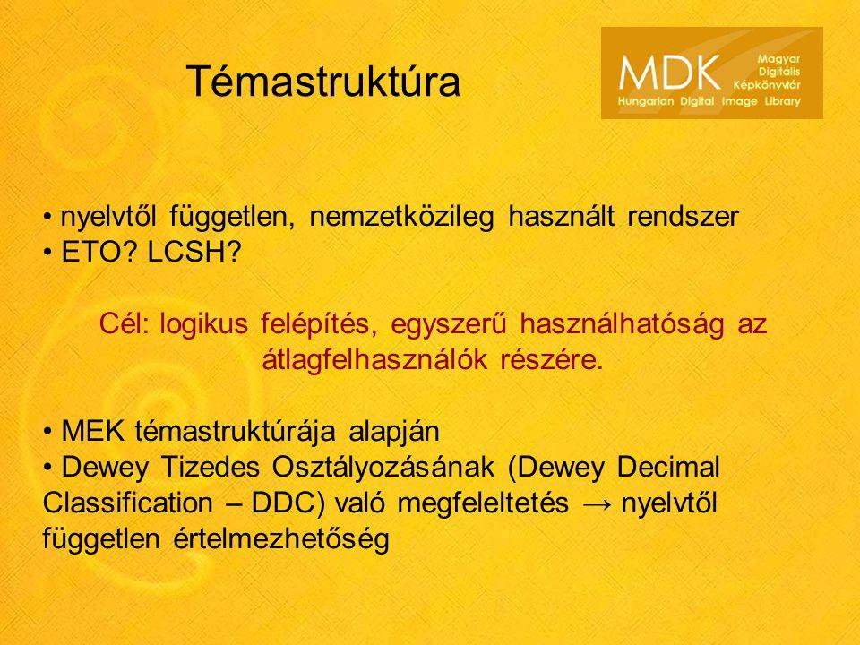 Témastruktúra nyelvtől független, nemzetközileg használt rendszer ETO.