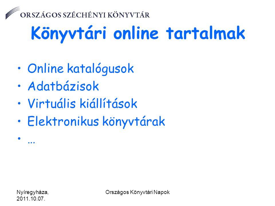 """Nyíregyháza, 2011.10.07.Országos Könyvtári Napok Könyvtárak mobilon """"Treasures app."""