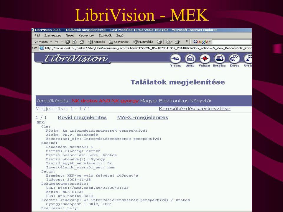 LibriVision - MEK