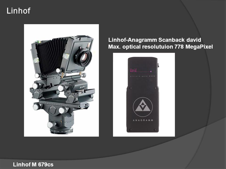 Linhof Linhof-Anagramm Scanback david Max. optical resolutuion 778 MegaPixel Linhof M 679cs