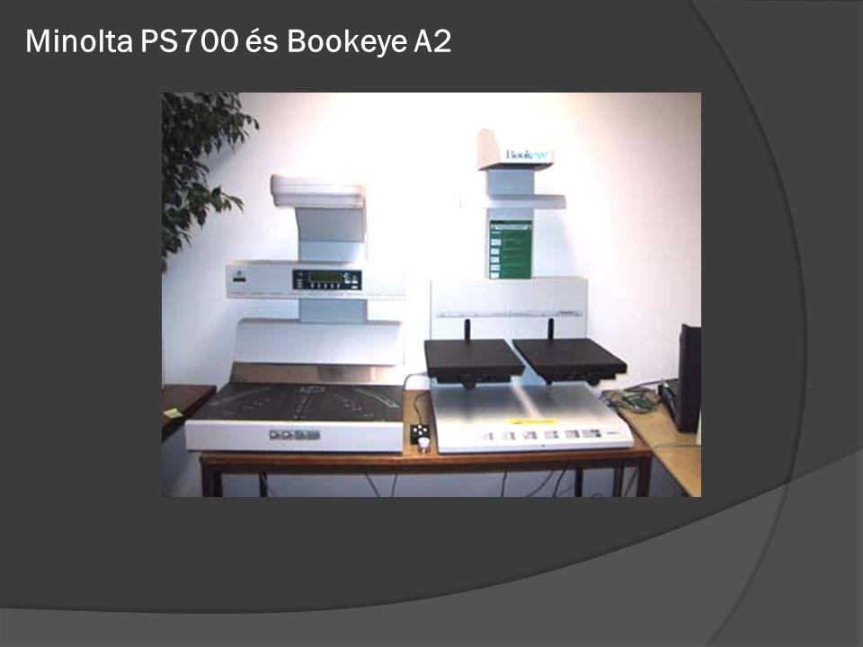 Minolta PS700 és Bookeye A2