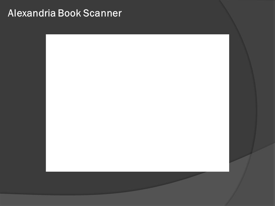 Alexandria Book Scanner