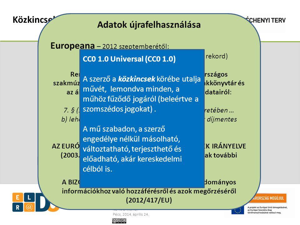 Dancs Szabolcs, OSZK, projektigazgató ELDORADO – az országos könyvtári szolgáltatások megújuló rendszere NETWORKSHOP Pécs, 2014.