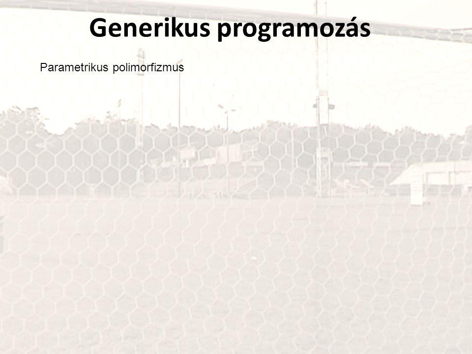 Generikus programozás Parametrikus polimorfizmus