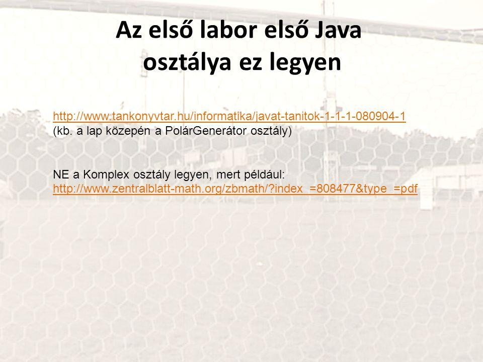 http://www.tankonyvtar.hu/informatika/javat-tanitok-1-1-1-080904-1 (kb. a lap közepén a PolárGenerátor osztály) NE a Komplex osztály legyen, mert péld