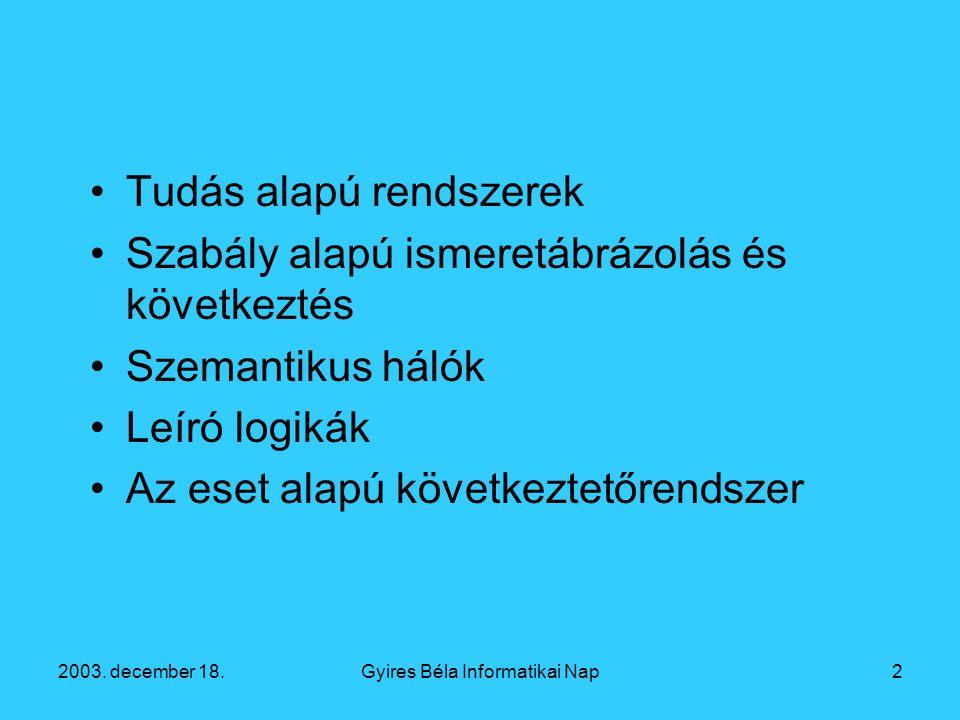 2003. december 18.Gyires Béla Informatikai Nap13