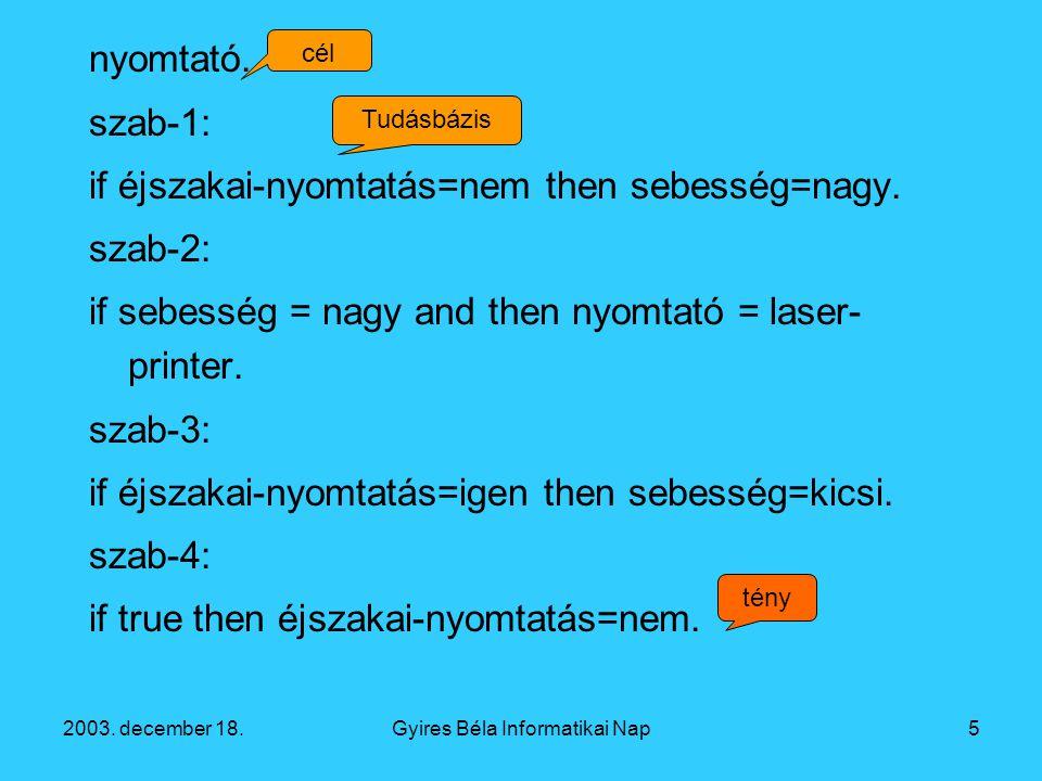 2003. december 18.Gyires Béla Informatikai Nap5 nyomtató.