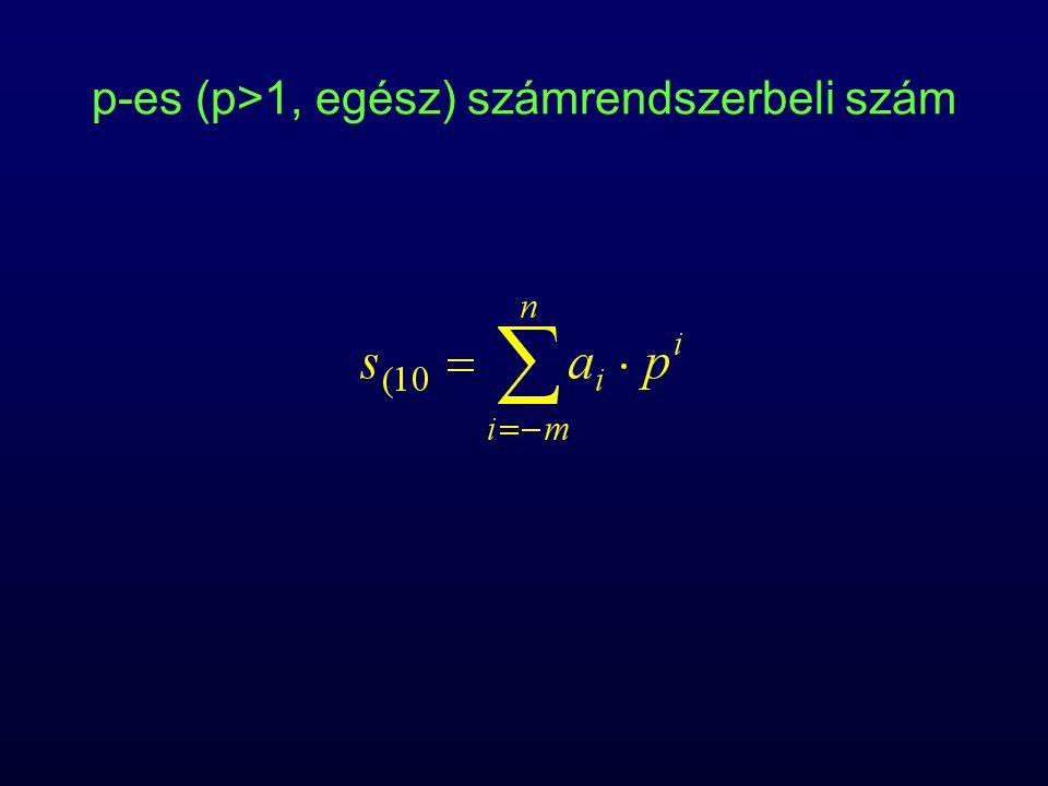 p-es (p>1, egész) számrendszerbeli szám