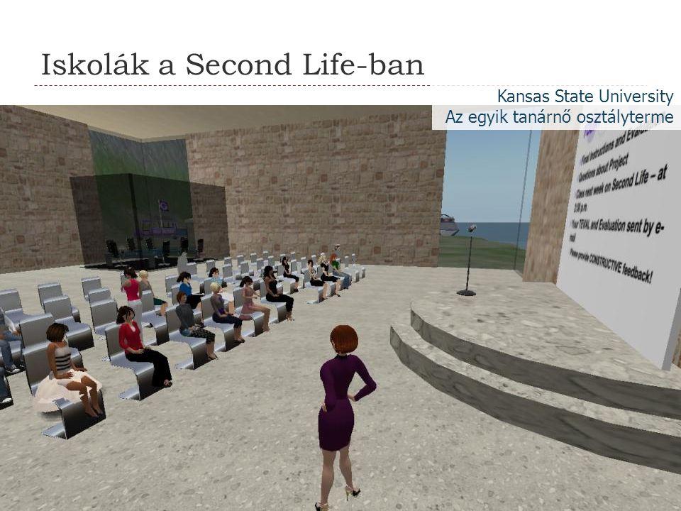 Iskolák a Second Life-ban Kansas State University Az egyik tanárnő osztályterme