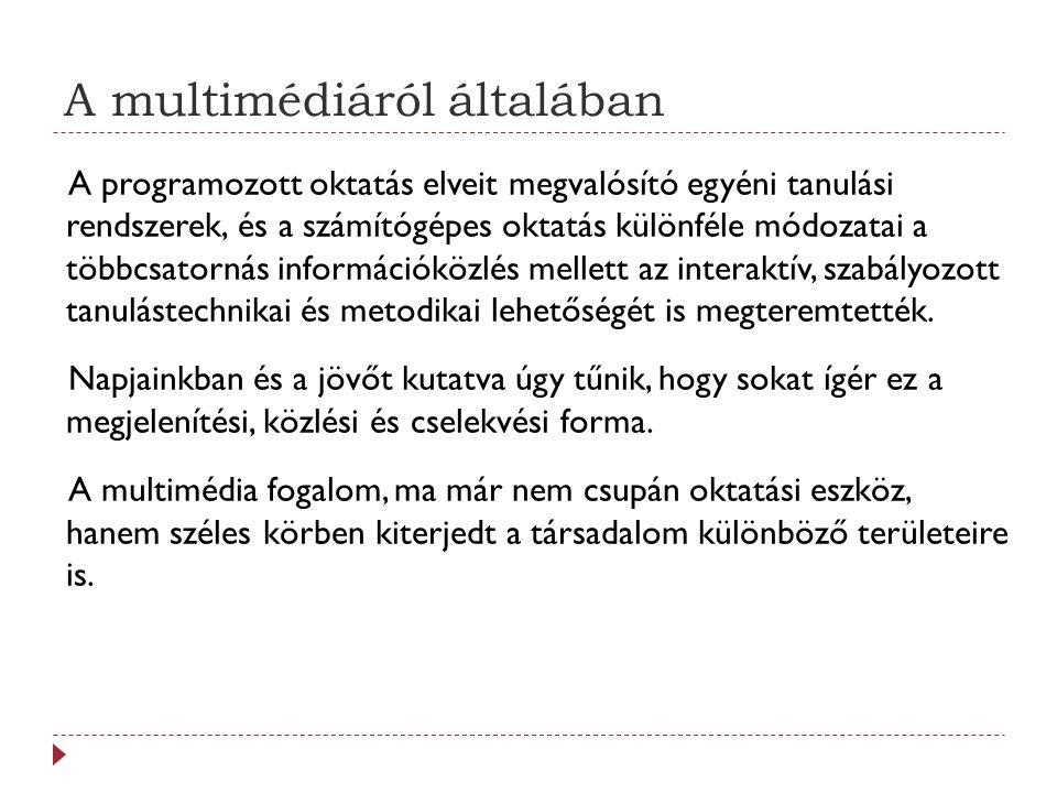 A multimédia fogalma III.