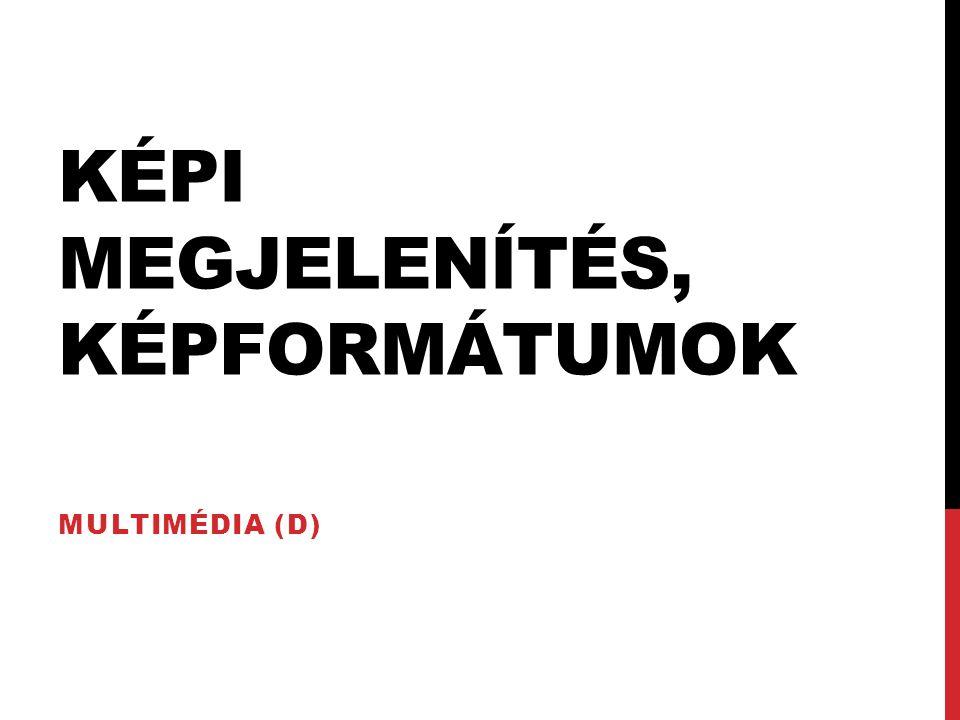 KÉPI MEGJELENÍTÉS, KÉPFORMÁTUMOK MULTIMÉDIA (D)