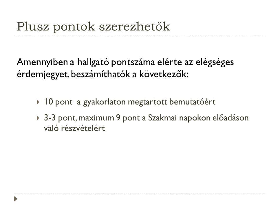Ajánlott irodalom Andreas Holzinger: A multimédia alapjai, Kiskapu Kiadó, Budapest, 2004.