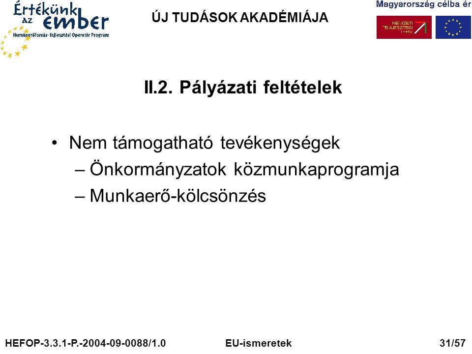 ÚJ TUDÁSOK AKADÉMIÁJA II.2.