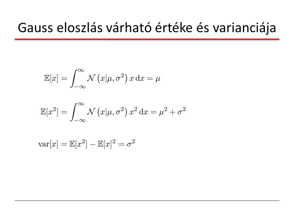 Gauss eloszlás várható értéke és varianciája