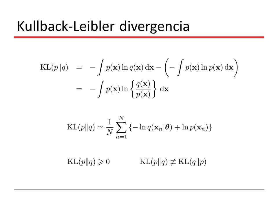 Kullback-Leibler divergencia