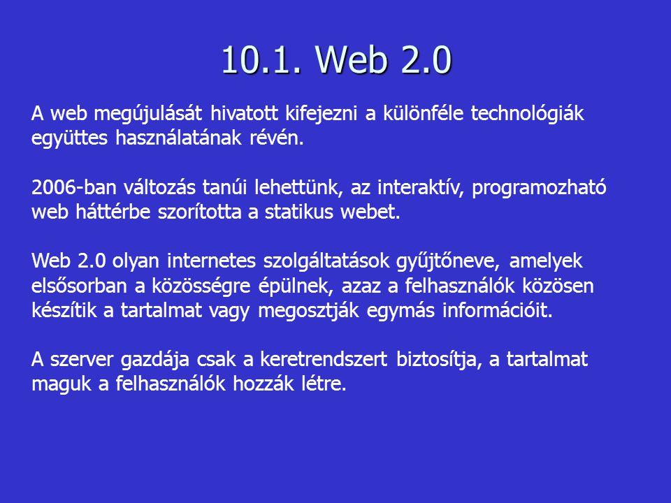 A web 2.0 kifejezést Tim O Reillynek, az O Reilly Media cég alapítójának tulajdonítják 2004-ből.
