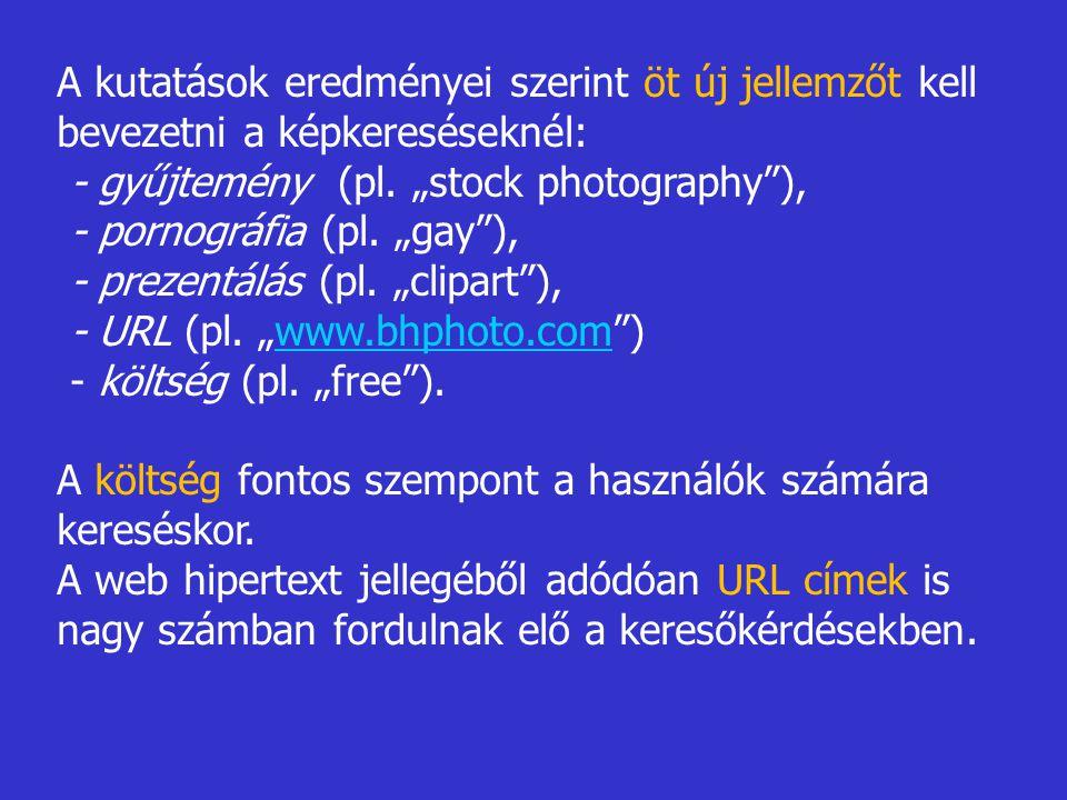 A kutatások eredményei szerint öt új jellemzőt kell bevezetni a képkereséseknél: - gyűjtemény (pl.