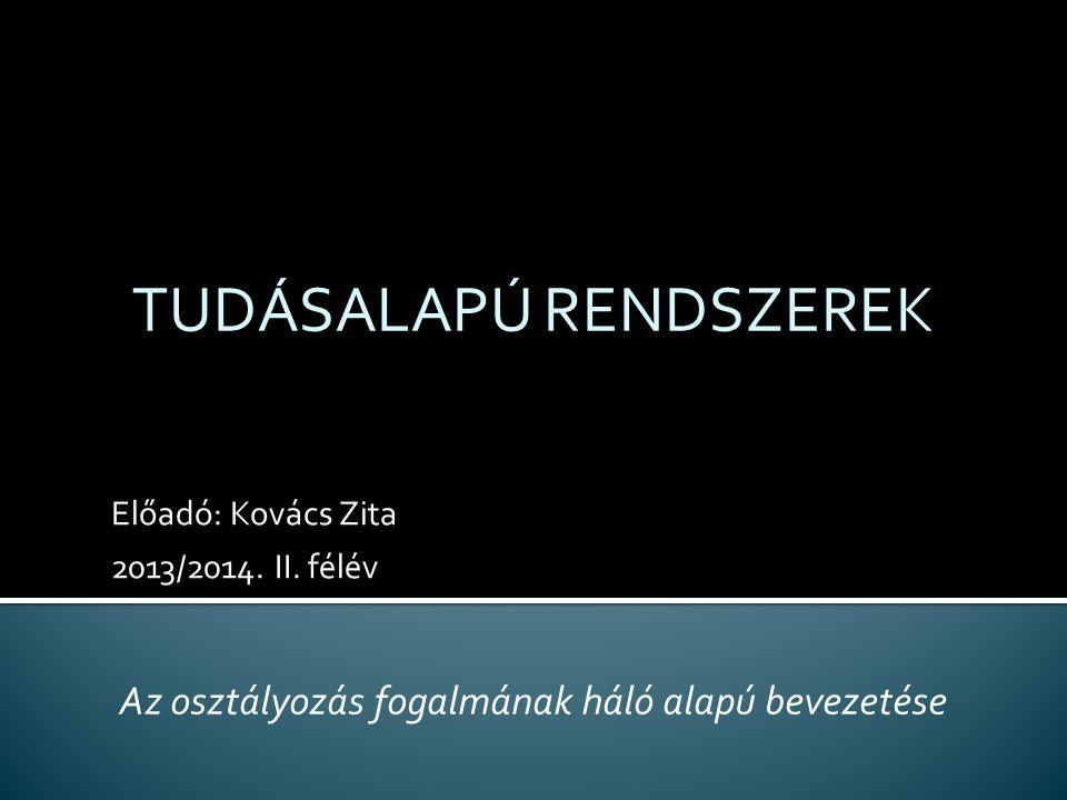 Előadó: Kovács Zita 2013/2014.II.