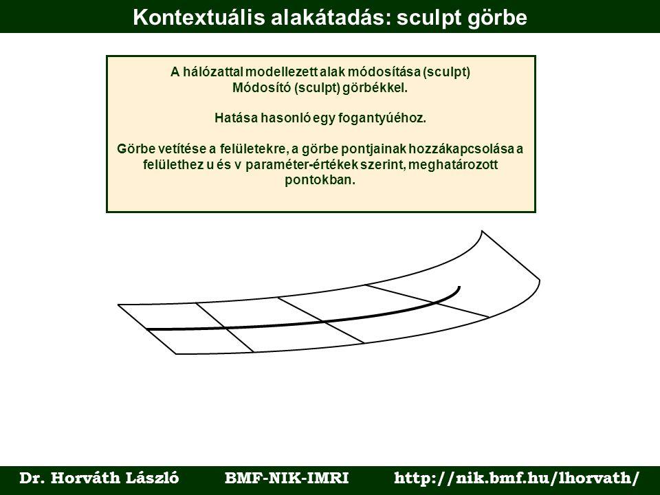 Kontextuális alakátadás: sculpt görbe Dr.