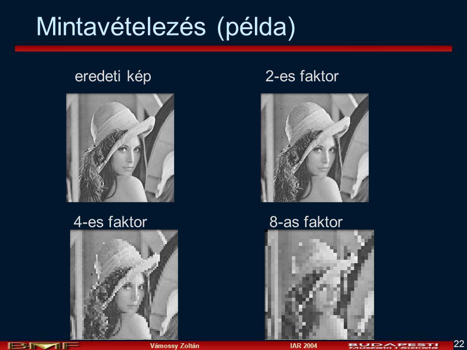 Vámossy Zoltán IAR 2004 22 Mintavételezés (példa) eredeti kép 2-es faktor 4-es faktor 8-as faktor